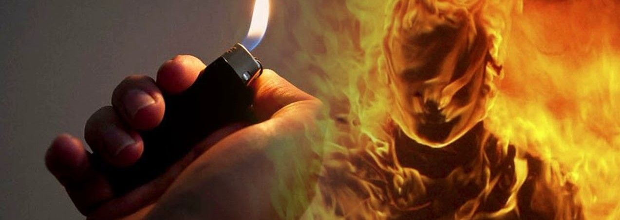 Горящая зажигалка
