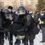 задержание на митинге 23 января