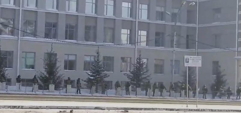 Протест в Новосибирске 31 января