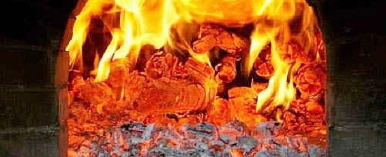 печка с углём