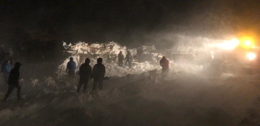 сход лавины в Норильске