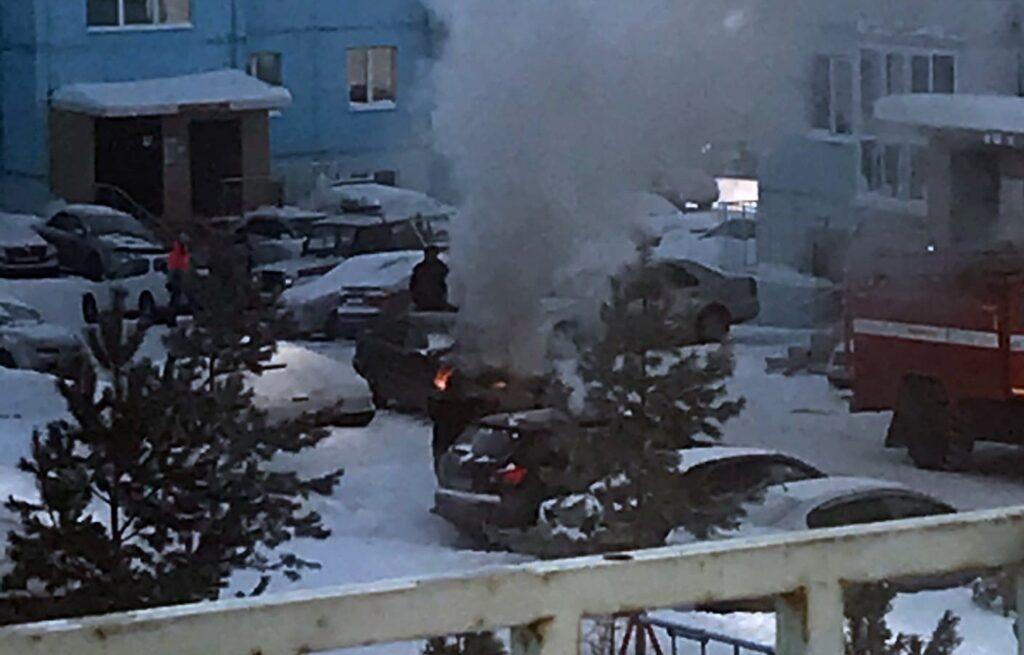 автомобиль, пожар