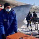 Пострадавших при пожаре детей вертолётом эвакуировали в Новосибирск