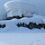 снег, сугроб, деревня