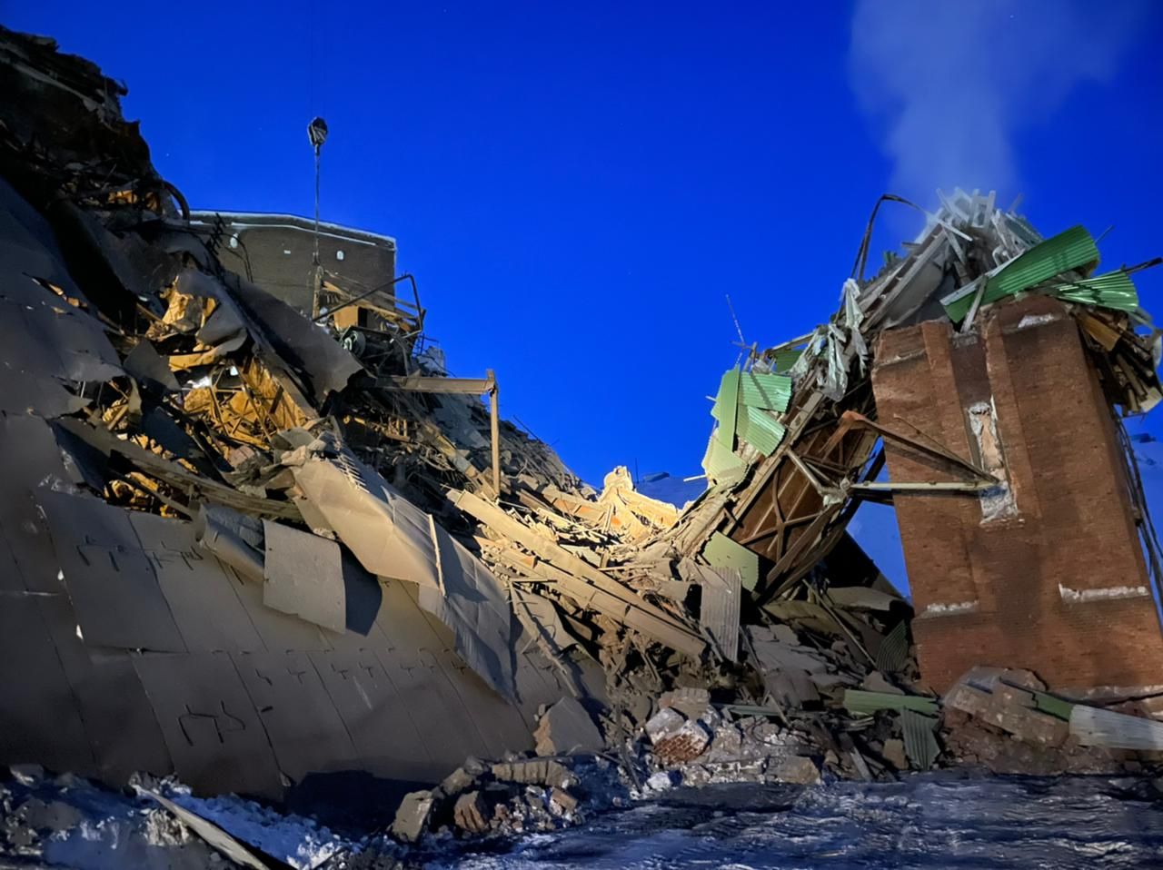 Норильск, фабрика, обрушение