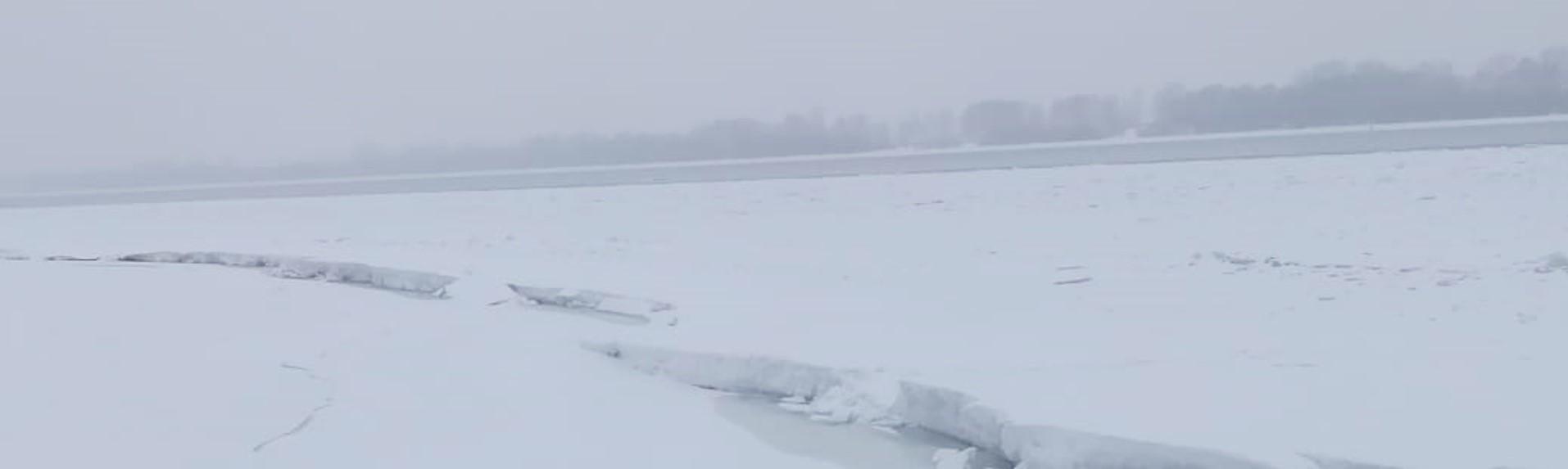 лед, река, вода