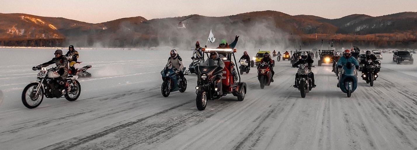 байкальская миля, мотоцикл, дорога