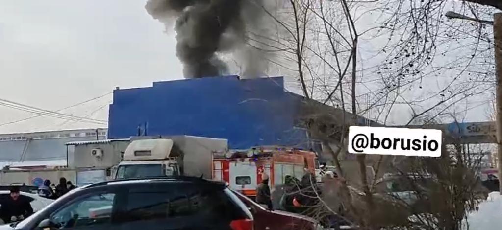 пожар, Красноярск