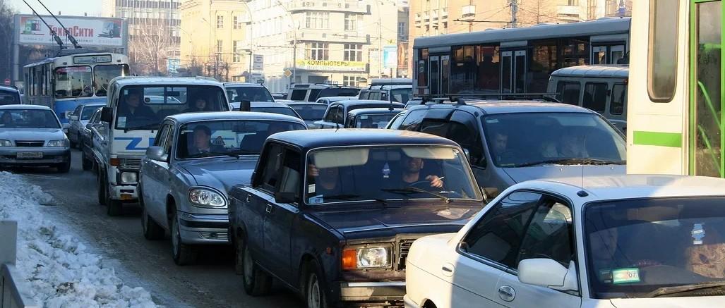 пробка в Новосибирске