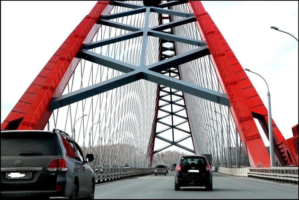 мост в Новосибирске