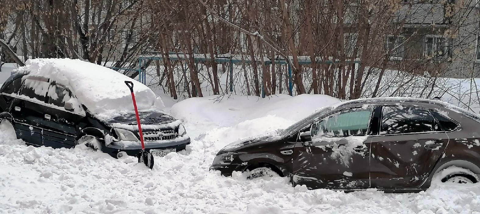 снег, машина