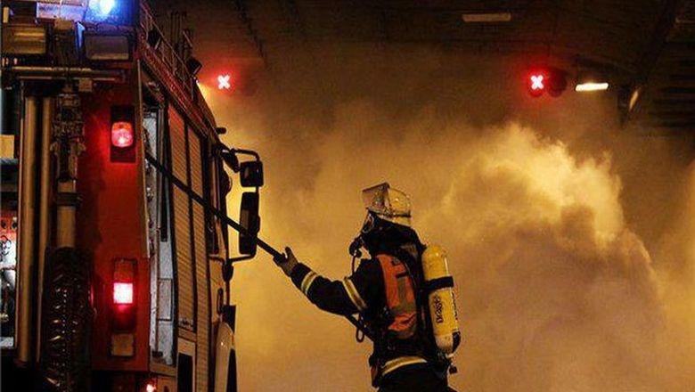 пожар, огонь, завод
