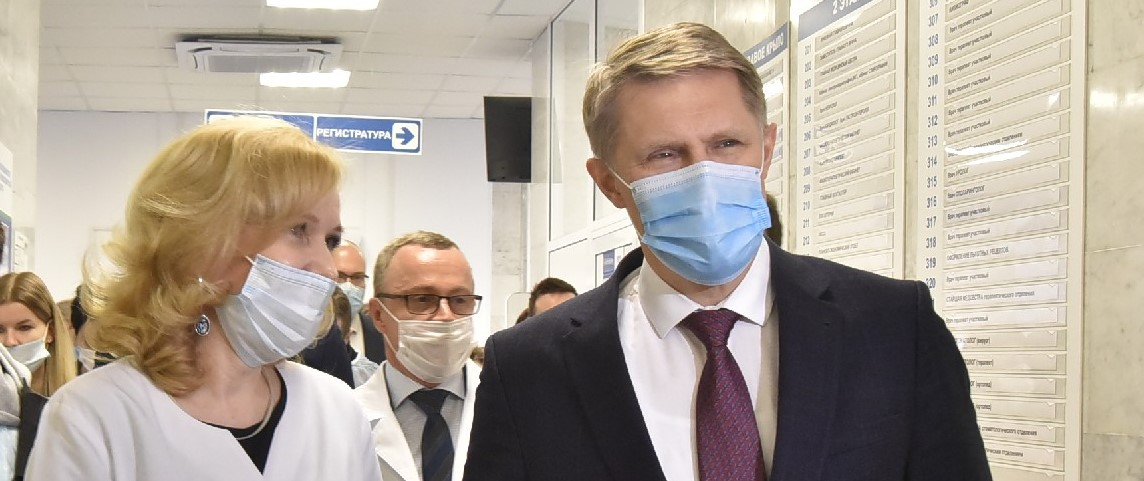 Мурашко больница Министр здравоохранения России вакцинация против коронавируса НСО Новосибирская область