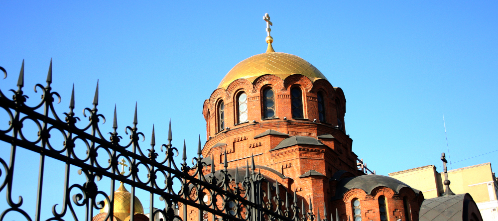 Собор Александра Невского на площади Свердлова в Новосибирске. Фото Сергея Завражных