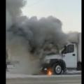 пожар загорелся грузовик новосибирск