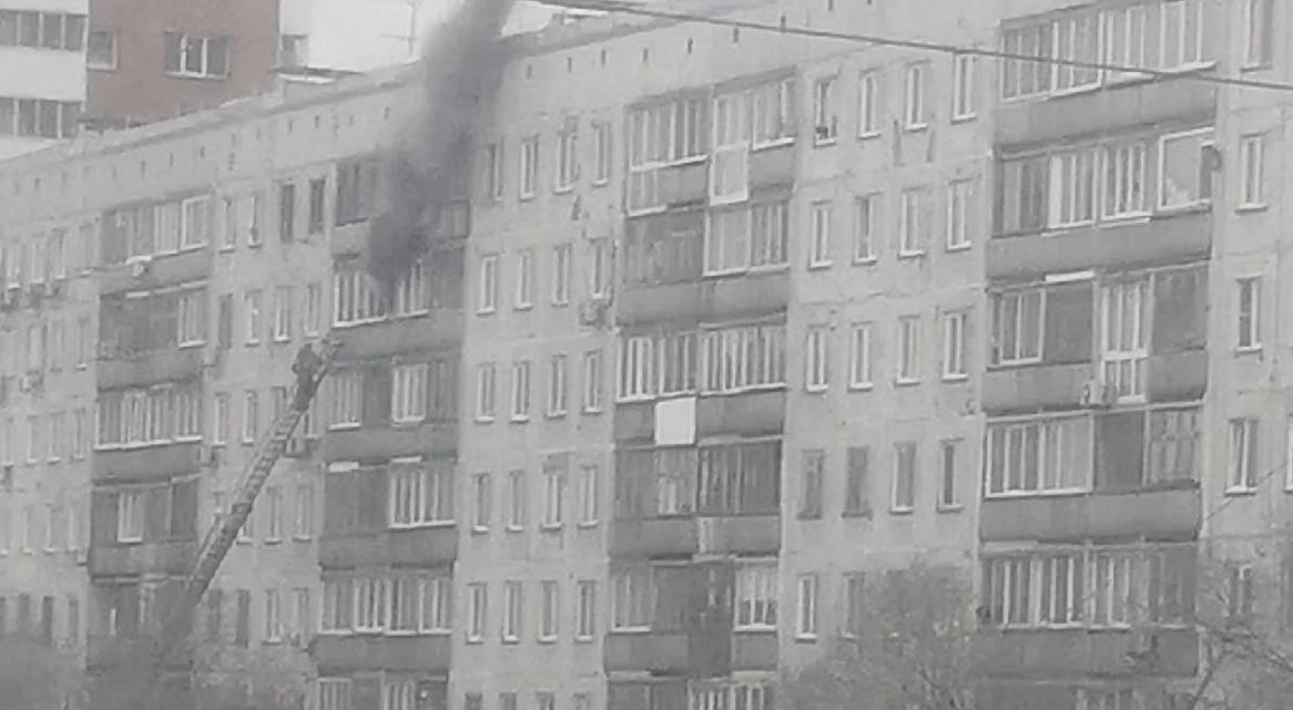 пожар, балкон