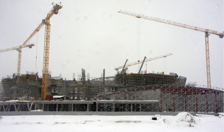 Строящийся ЛДС в Новосибирске сдача 2022 год