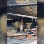 В Новосибирске при разборе гаража придавило мужчину