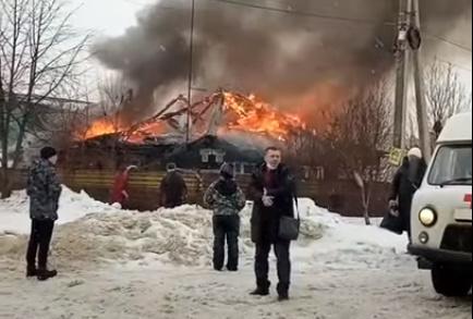 пожар, огонь, дом
