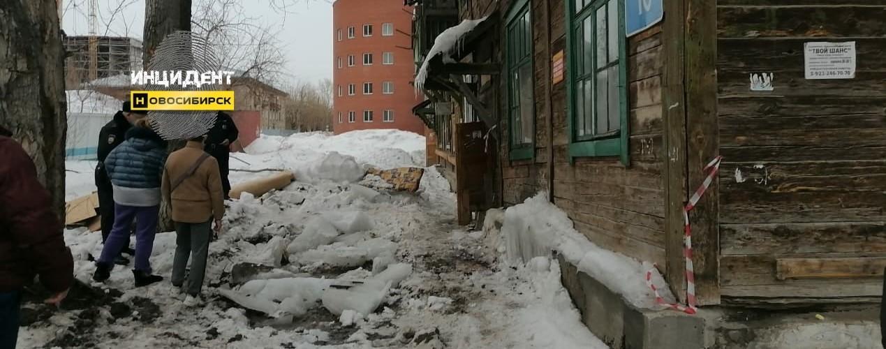 снег, крыша, падение