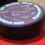 Символическая шайба МЧМ-2023 по хоккею в Новосибирске