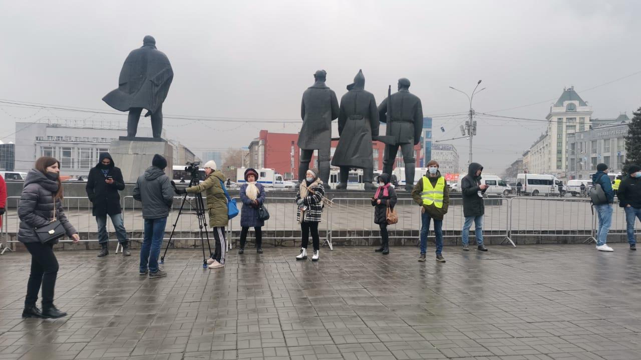 Незаконная акция в Новосибирске 21 апреля