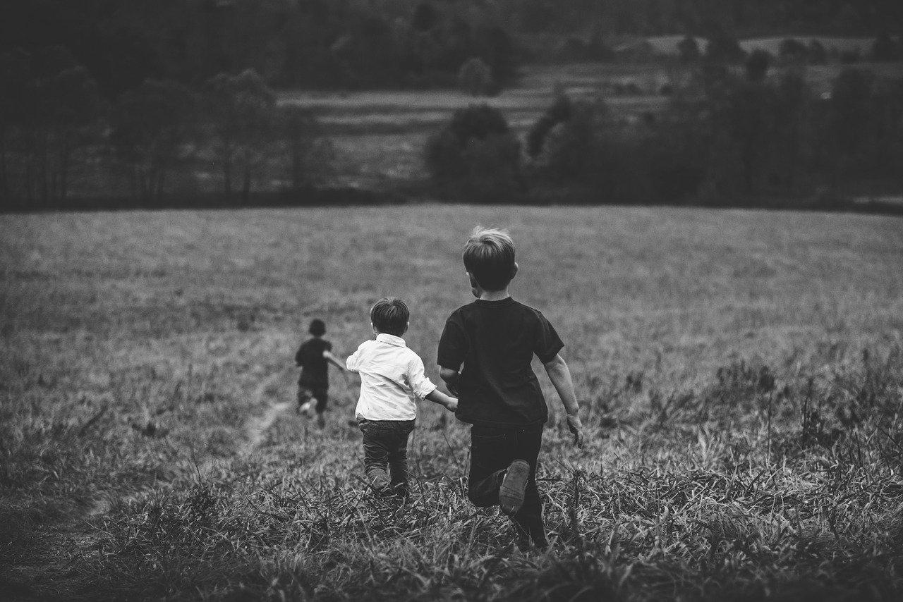 Дети, поляна