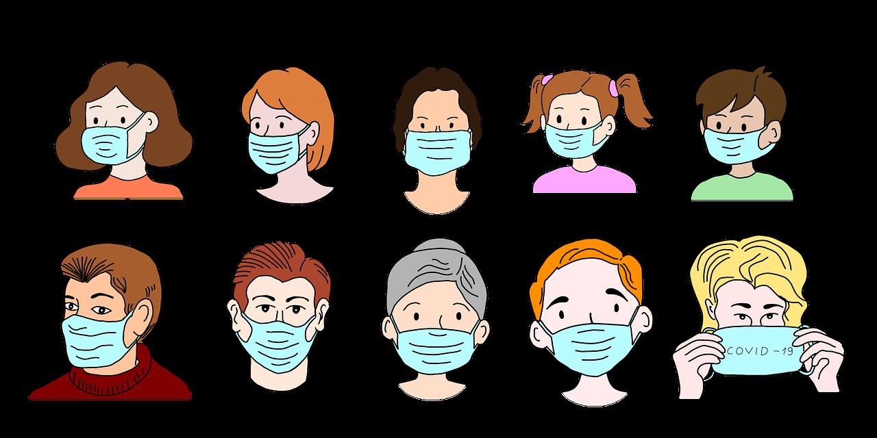 лица, маски