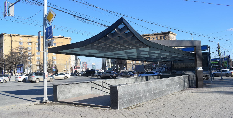 Отремонтированный подземлный переход в центре Новосибирска