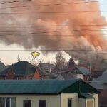 Пожар в Новосибирске: горит частный двухэтажный дом