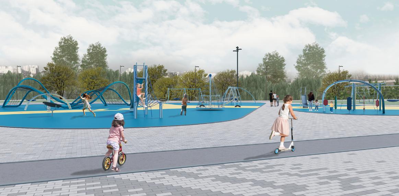 Парк возле ЛДС Детская площадка