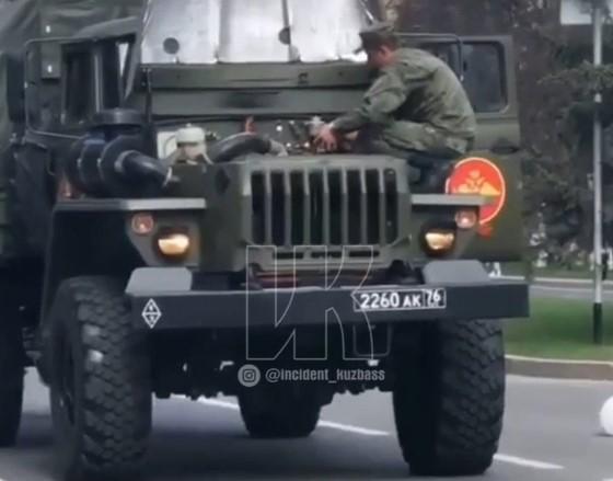 грузовик горит
