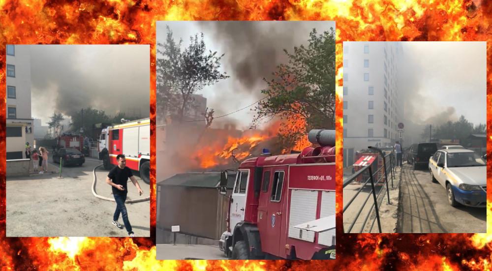 пожар в новосибирске 25 мая