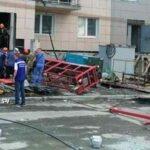 Со строящейся высотки в Новосибирске сорвалась люлька с рабочими