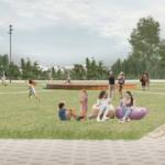 Парк возле ЛДС