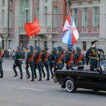 Две тысячи военных репетировали парад ко Дню Победы в Новосибирске