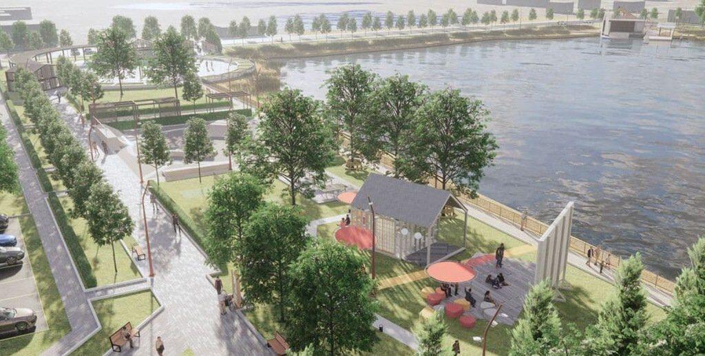 Проект набережной в Карасуке