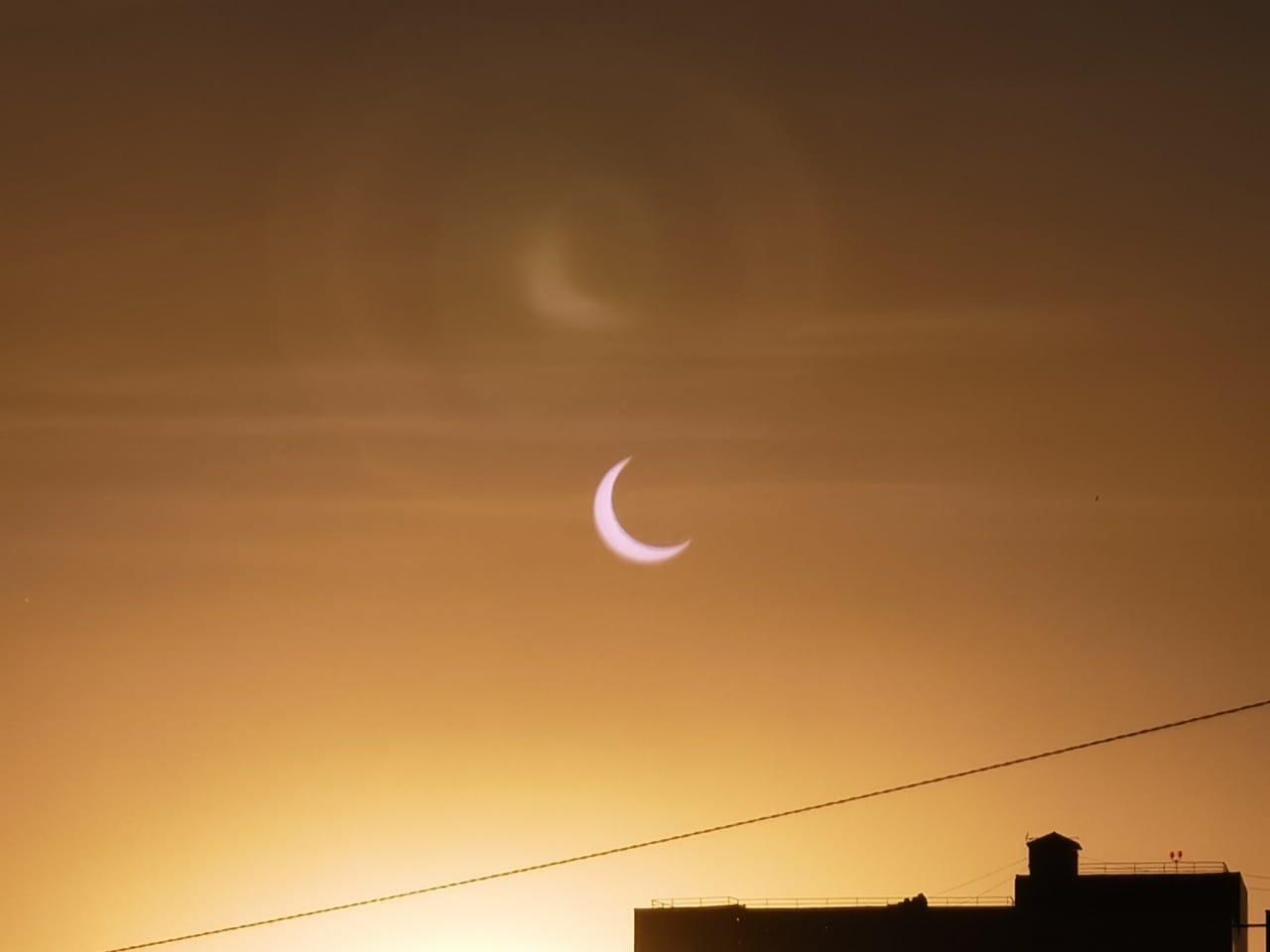 Лучше всего затмение было видно в Якутии. Фото из социальных сетей