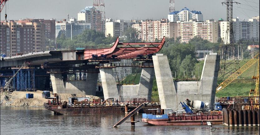 строительство центрального моста в новосибирске