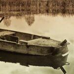 лодка, озеро, рыбалка