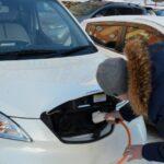 электромобиль - зарядка