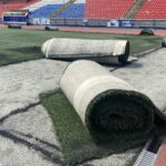 Искусственное поле стадиона «Спартак» в Новосибирске