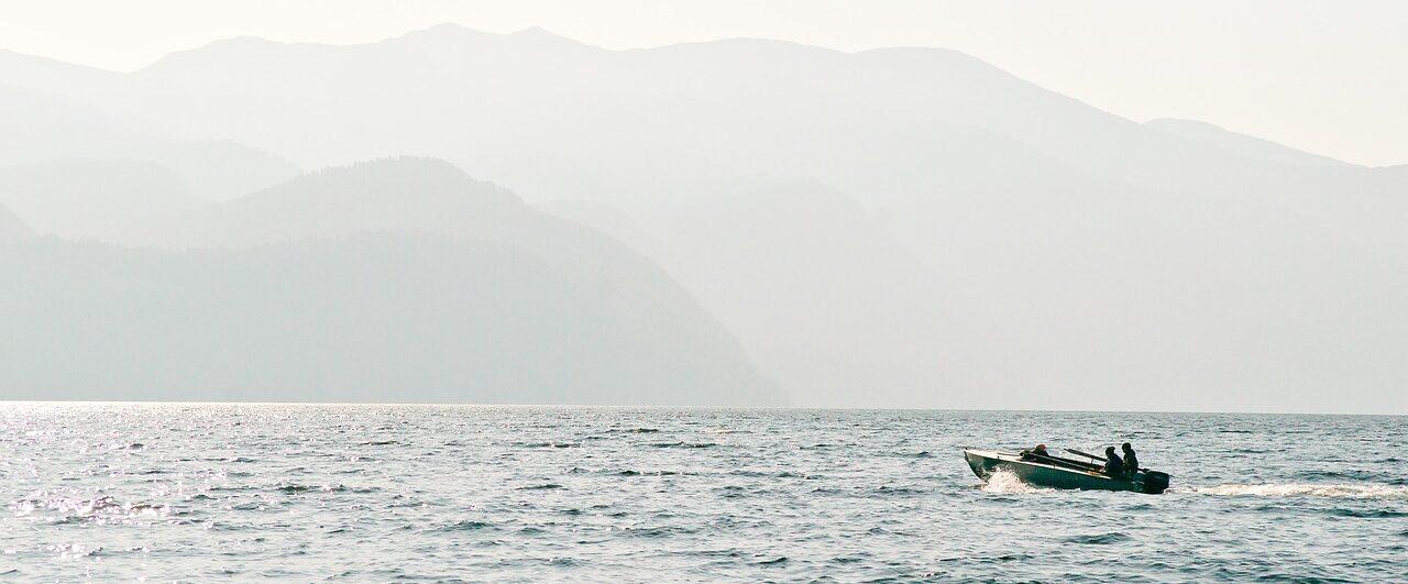 Лодка на Алтае