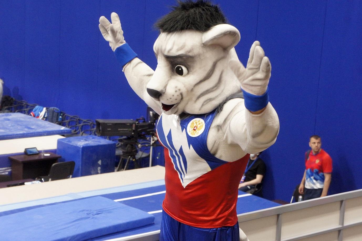 Талисман Кубка России по спортивной гимнастике в Новосибирске