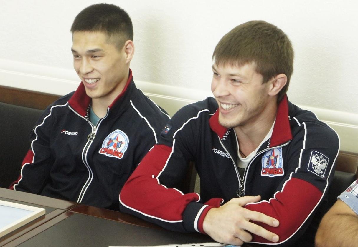 Чемпионы Европы по самбо Ай-Херел Хертек и Павел Пантелеев