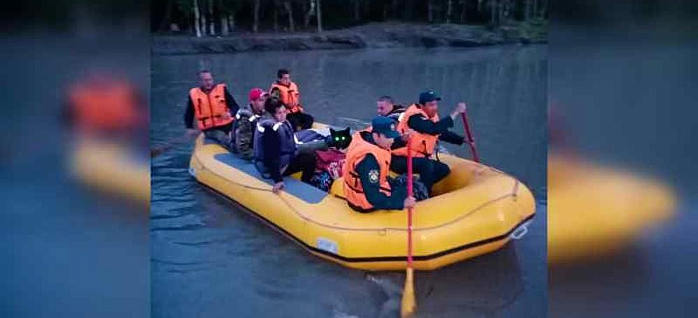 туристы застряли на Катуни