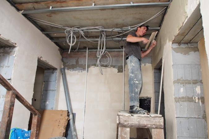 строитель, отделка