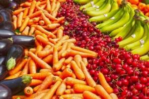 овощи, бананы, морковь