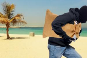 кража, пляж