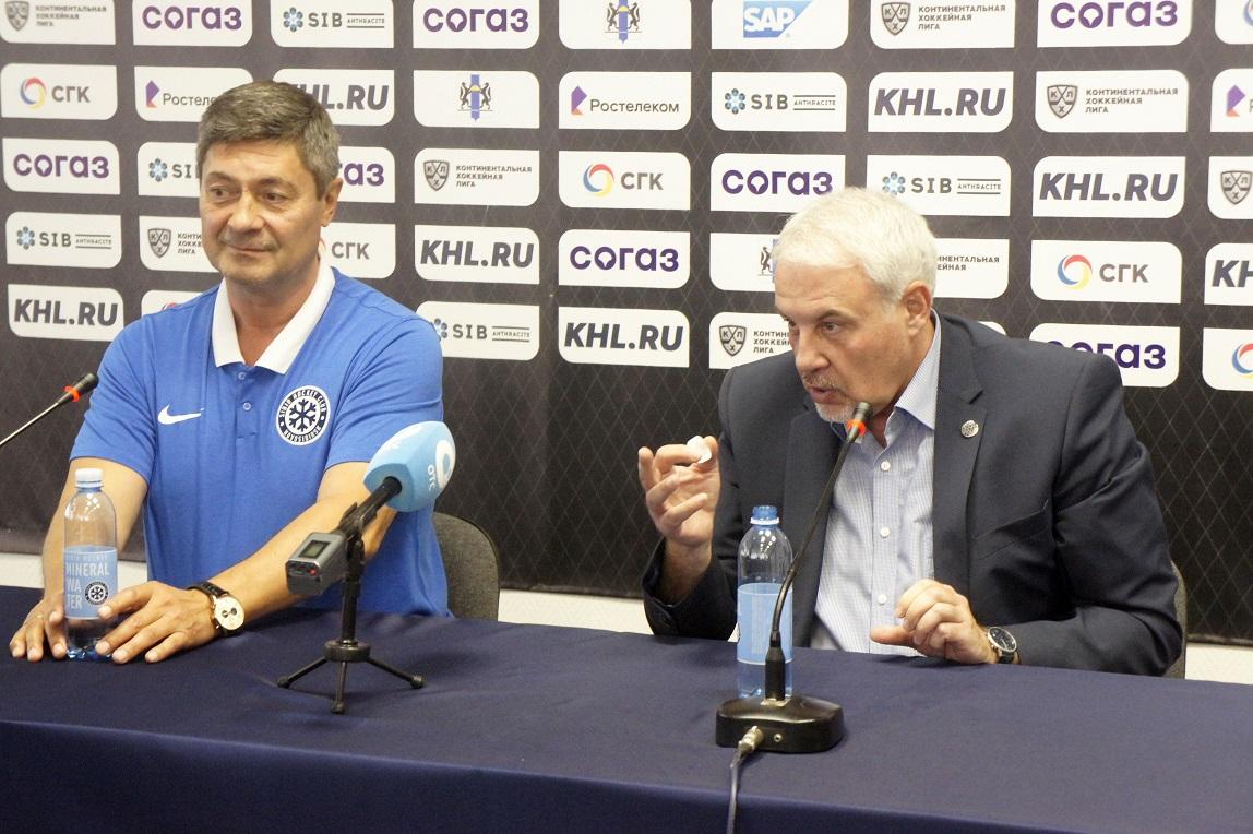 главный тренер «Сибири» Андрей Мартемьянов и генеральный директор Кирилл Фастовский